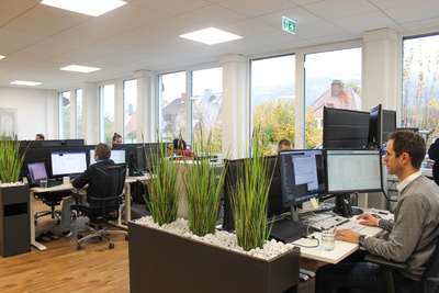 The developers' office in Freiburg -