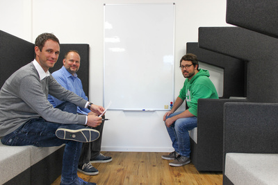 CTO Matthias Kess with colleagues -