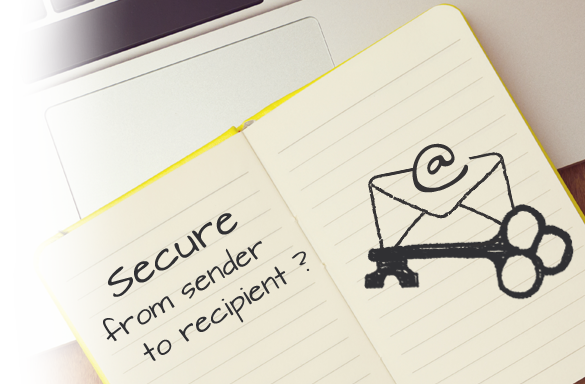 Email encryption - Secure from sender to recipient