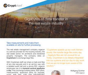 Case study Data exchange in the gigabyte range in the real estate industry