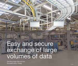 Case study Easy and secure exchange of large volumes of data
