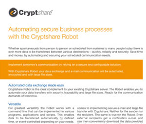 Datasheet Automating secure business processes